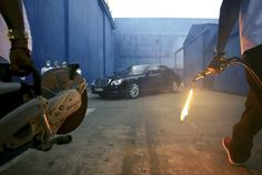 Auctioning off the tricked out Maybach driven by Kanye West and Jay-Z in the music video 'Otis'