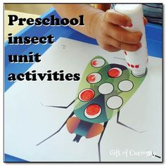 Preschool insect unit activities - books, science activities, worksheets, and other insect-themed learning for preschoolers    Gift of Curiosity