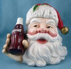 Coca-Cola Santa Head Cookie Jar...I need this one
