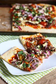 Steak, Gorgonzola and Cherry Tomato Pizza Recipe on Yummly