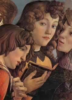 "Sandro Botticelli ""Madonna of the Pomegranate detail"" (1487) detail"