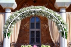 22459030-Wedding-arch-decorated-with-white-flowers-Stock-Photo-arch.jpg (1300×866)