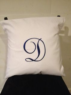 "Initial Pillow Covers 18"" Square Personalized Pillow Cover Monogrammed Pillow Cover"