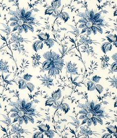 Shop Waverly Felicite Indigo Fabric at onlinefabricstore.net for $12.16/ Yard. Best Price & Service.