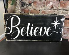 Believe Sign Buffalo Plaid Sign Christmas Sign Holiday Primitive Christmas, Christmas Wooden Signs, Christmas Wood Crafts, Plaid Christmas, Christmas Projects, Handmade Christmas, Christmas Decorations, Holiday Decor, Xmas