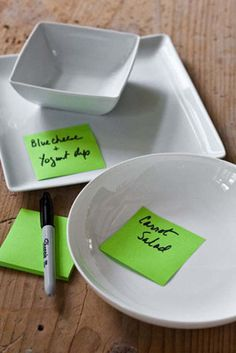 I think this is such a great idea for parties! from:: Barefoot Contessa - Easy Tips