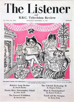 "Cover design for ""The Listener"" by Edward Bawden, 1961 (line-drawn illustration)"