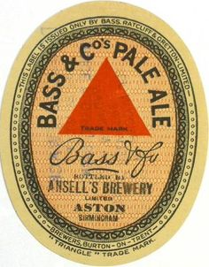 Labels Bass & Co's Pale Ale Bass Ratcliff & Gretton, Ltd., Burton-on-Trent Staffordshire England Bottle Labels, Beer Labels, British Beer, Dark Beer, Beer Mats, Pub Signs, How To Make Beer, Best Beer, Wine And Spirits