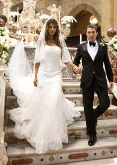 Elisabetta Canalis's Wedding Dress