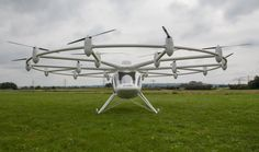 The VC200 Volocopter is an electric copter with 18 rotors and numerous safety systems