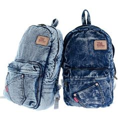This campus backpack comes in a Blue washed denim. It is Ready to carry all your stuff to back to school. Load up your books or knick knacks and head out in style with this washed denim backpacks. Featuring a large zipper main compartment, a front pouch zipper pocket patch with a slant pocket...