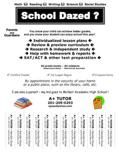 tutor flyer template free