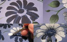 Hand Painted Flower – DIY Dry Brush / OverlayTechnique- Free Pattern #saygdayparty
