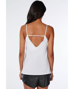 High Neck Cami Top White - Tops - Cami Tops - Missguided