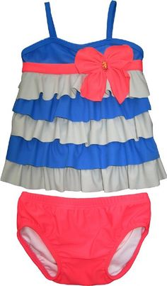 Isobella and Chloe Bow-Tastic 2 pc Tankini<BR>12M, 2T, 3T, 4T, 7, 10 & 14 Years ONLY