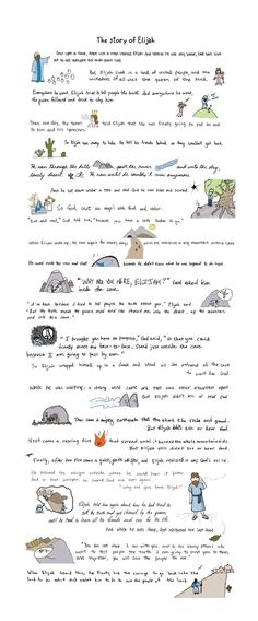 story of Elijah Must print this out so I can read it...print is too small here..