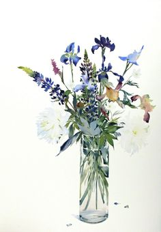 C r e a t i v e W o n d e r: Exquisite watercolors of flowers . . . so lovely . . . Susan Headley Van Campen . Thomaston . Maine