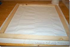 Homemade canvas how-to