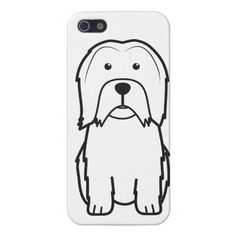 Lowchen Dog Cartoon Cover For iPhone 5