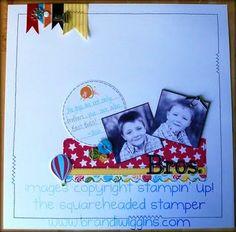 Stampin' Up!  Scrapbook Layout  Brandi Wiggins-Cote
