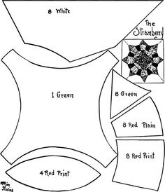 Quilt pattern: Strawberry