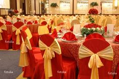 Image detail for -Red And Gold Wedding Decorations (Source museevents.com) & Elegant table setup #champagne_gold_decor | ??????? ?? | Pinterest ...