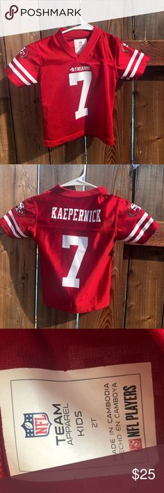 709affe6c73 49ers Toddlers Jersey #7 Kaepernick Size 2T Team Apparel Shirts & Tops  Sweatshirts & Hoodies