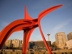 Free Things to Do in Seattle: (photo is from Seattle Art Museum's waterfront Olympic Sculpture Park)