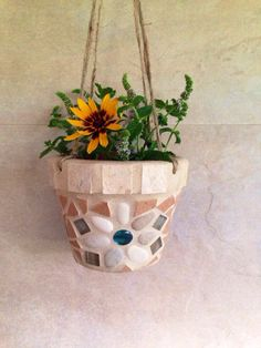 A personal favorite from my Etsy shop https://www.etsy.com/listing/242137907/mosaic-hanging-planter-succulent-planter