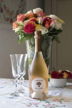 L'Arnaude sparkling rosé wine, Provence, France Aix En Provence, Provence France, Sparkling Wine, Fine Wine, Rose, Sparkle, Table Decorations, Bottle, Home Decor