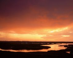 A spectacular glowing sunset over the tidal estuary at Blakeney Point Norfolk England, Dusk Till Dawn, Big Sky, Pilgrimage, Mother Earth, Sunsets, Britain, Sunrise, Beautiful Places