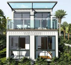 Prefabricated Turn-Key Shipping Container House picture from Jiangxi HK Prefab Building Co. view photo of Ocean View Shipping House, Modular House, Prefab House.Contact China Suppliers for More Products and Price. Container Home Designs, Container Van House, Cargo Container Homes, Building A Container Home, Storage Container Homes, Container Buildings, Container Architecture, Architecture Design, Container Cabin