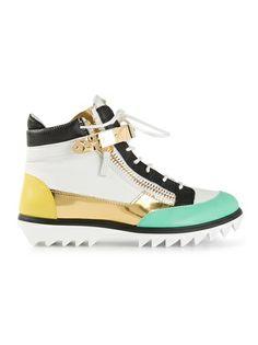 Giuseppe Zanotti Design Colour Block Hi-Top Sneakers