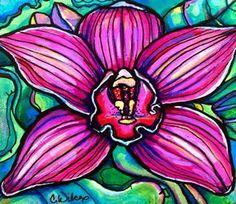 Orchid Flower – Colleen Wilcox Art