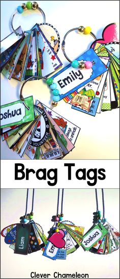 140 Printable Brag Tags at TPT