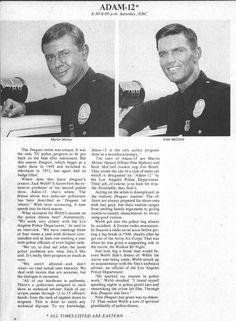 "1971 ADAM-12 Kent McCord~Martin Milner NBC Tv Ad fall preview promo ad 8""x10.75"""