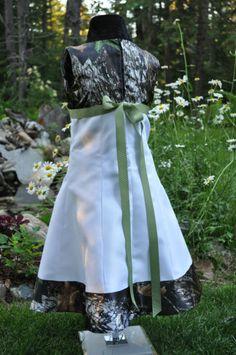 New Camo Wedding Dress Childs Flowergirl Satin Camo   eBay