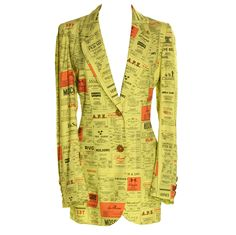 1990's Moschino Yellow Pages Blazer