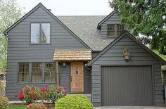 grey exterior house colors Super Exterior Paint Colors For House Black Dark Ideas Tudor House Exterior, Black House Exterior, Exterior Paint Colors For House, Cottage Exterior, Paint Colors For Home, Modern Exterior, Exterior Colors, Exterior Design, Paint Colours