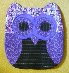 Handmade  Purple Passion Owl Pillow CUSHION  by kalenescustomgifts, $23.00