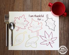 Free Printable Thanksgiving Placemats. Great for Turkey day!