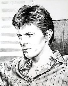 NO JUDGE OF MEN Portrait of David Bowie in Paris 1977, being interviewed by Michel Drucker #DavidBowie #Bowie #DavidBowie Portrait #Bowie1977 #DavidBowie1977 #Bowieheroes1977 #Heroes1977 #DavidBowieDrawing #Charcoal #Drawing #BowieArt #ContemporaryArt #portraiture #figuarativepainting #Charcoalsketch #ArtGallery #PhillyLovesBowie #RuckusGallery #RuckusGalleryPhiladelphia #DavidBowieBerlin #BowieBerlinEra #heroes1977 #BerlinTrilogy