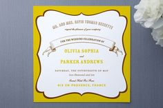 La Fete Wedding Invitations by Oscar & Emma at minted.com