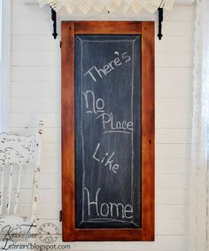 Large Reclaimed Wooden Chalkboard created from Antique Cabinet Door by KnickofTime