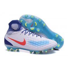 ba2a521ba2b Billiga Billiga Nike Magista obra II FG Fotbollsskor för män - Vit Blå  Orange Nike Soccer