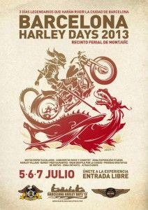 Reserva tu agenda para poder asistir a Barcelona Harley Days 2013 del 5 al 7 de Julio del 2013 en el recinto Fira de Barcelona en Montjuic. No faltes