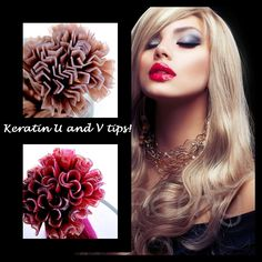 Get an amazing look with Keratin U and V Tips!  www.mypureremy.com    #indianremy #virginhair #keratintips