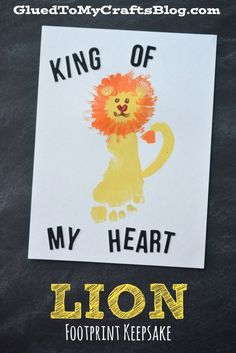 King of My Heart - Lion Footprint Keepsake
