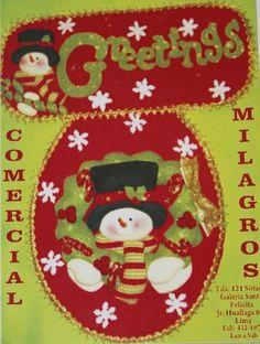 Patrones y Moldes de Juegos de Baños para Navidad en Fieltro GRATIS!! | EcoArtesanias.com