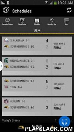 Southern Miss Gameday  Android App - playslack.com ,  The official Southern Miss Golden Eagles Gameday application is a must-have for fans headed to campus or following the Golden Eagles from afar. With FREE LIVE AUDIO, interactive social media, and all the scores and stats surrounding the game, the Southern Miss Golden Eagles Gameday application covers it all! Features Include: + LIVE GAME AUDIO - Listen to free live audio for football games and other sports throughout the school year…